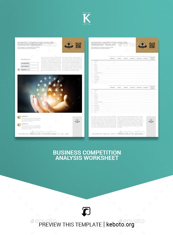Business Competition Analysis Worksheet - Miscellaneous Print Templates