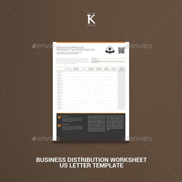 Business Distribution Worksheet US Letter Template