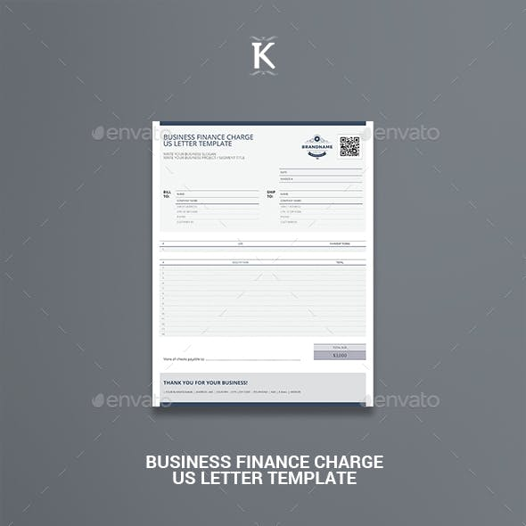 Business Finance Charge US Letter Template