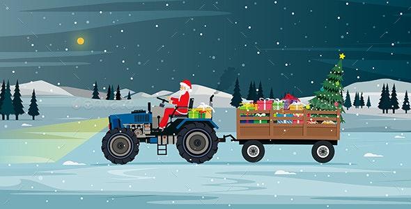 Santa Driving - Christmas Seasons/Holidays