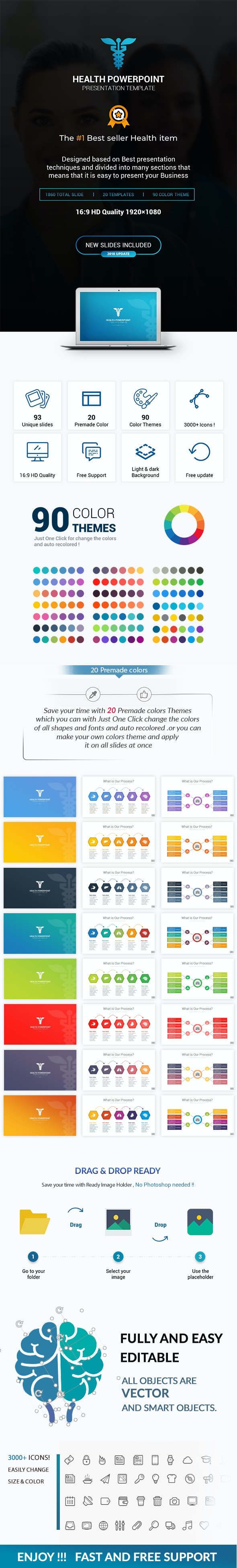Health Presentation Template - Miscellaneous PowerPoint Templates