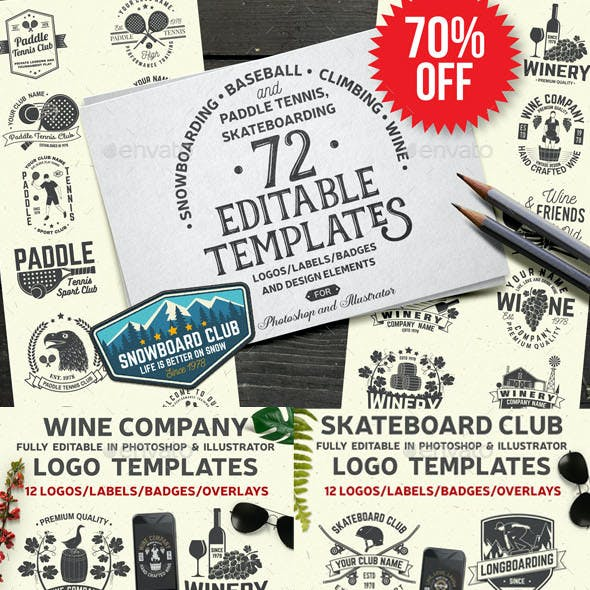72 Badge Graphics in One Bundle Part.3