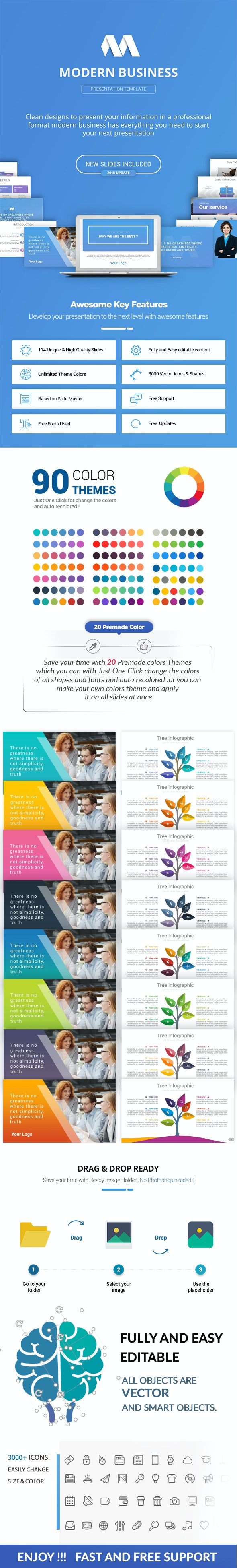 Modern Business PowerPoint Presentation Template - Business PowerPoint Templates