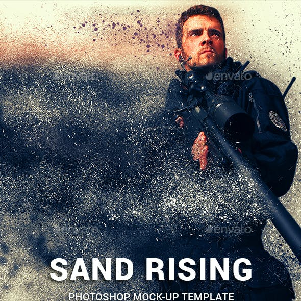 Sand Dispersion Photoshop Template Mock-Ups