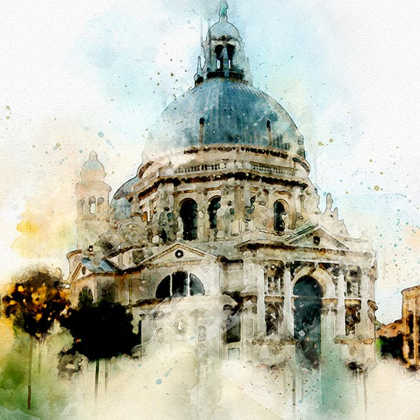 Watercolor Art Photoshop Action