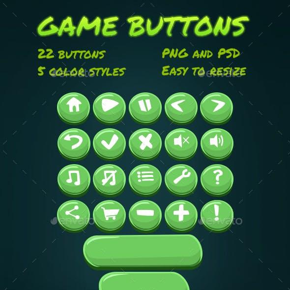 Cartoon Game Buttons