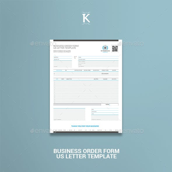 Business Order Form US Letter Template