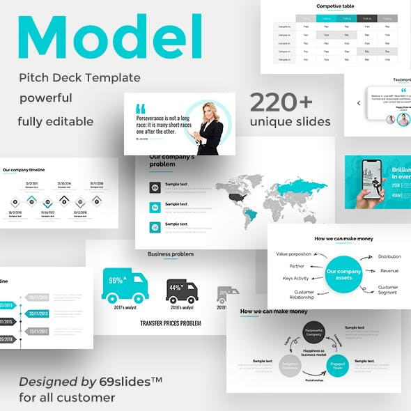 Case Model Pitch Deck Powerpoint Template