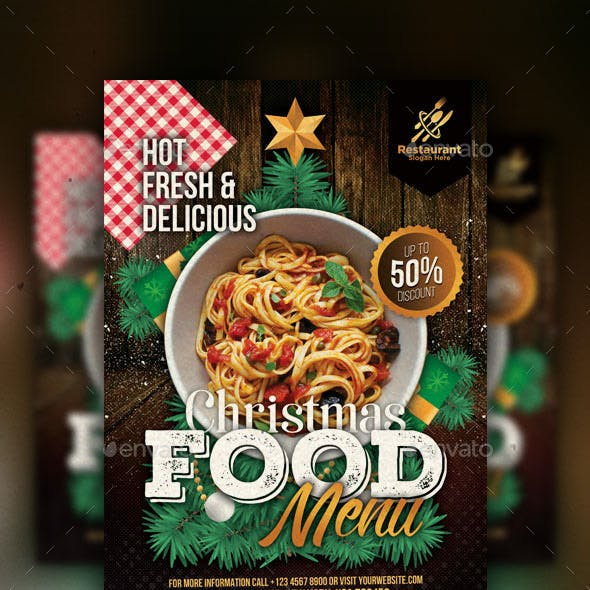 Christmas Food Flyer