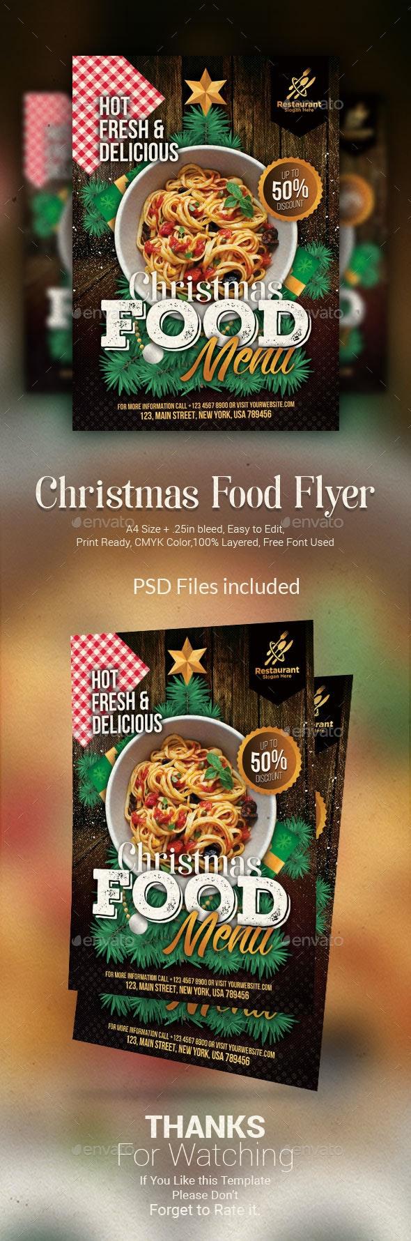 Christmas Food Flyer - Restaurant Flyers