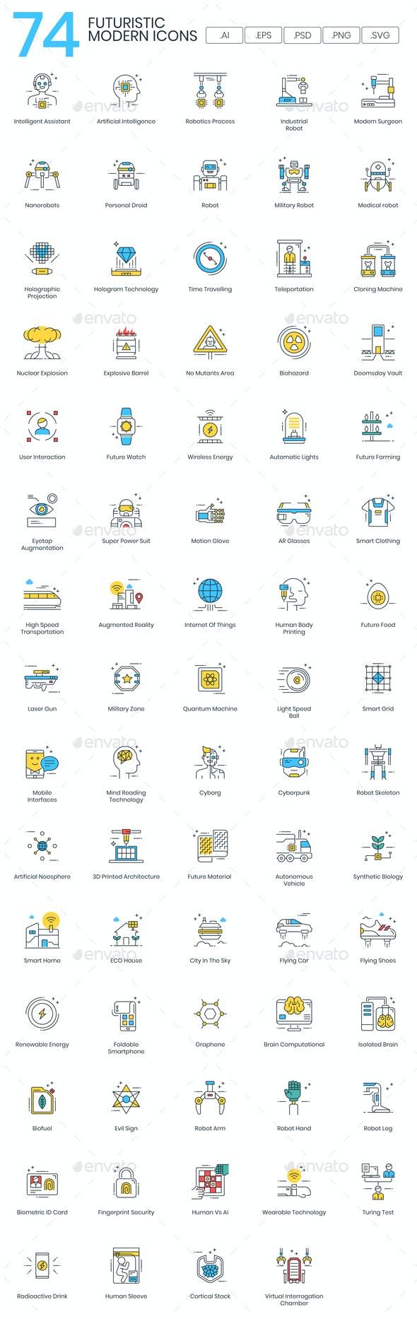 Future Technology - Modern - Technology Icons