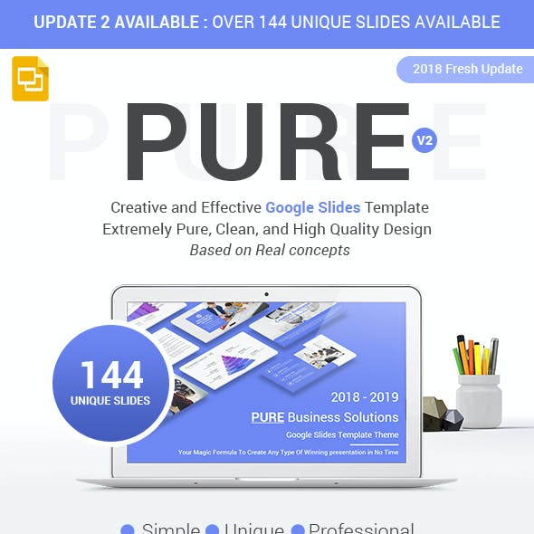 Pure Business Planner Solutions Google Slides Template Theme 2019