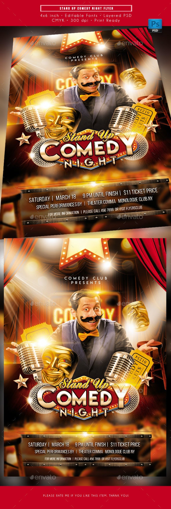 Stand Up Comedy Night Event Flyer - Miscellaneous Events