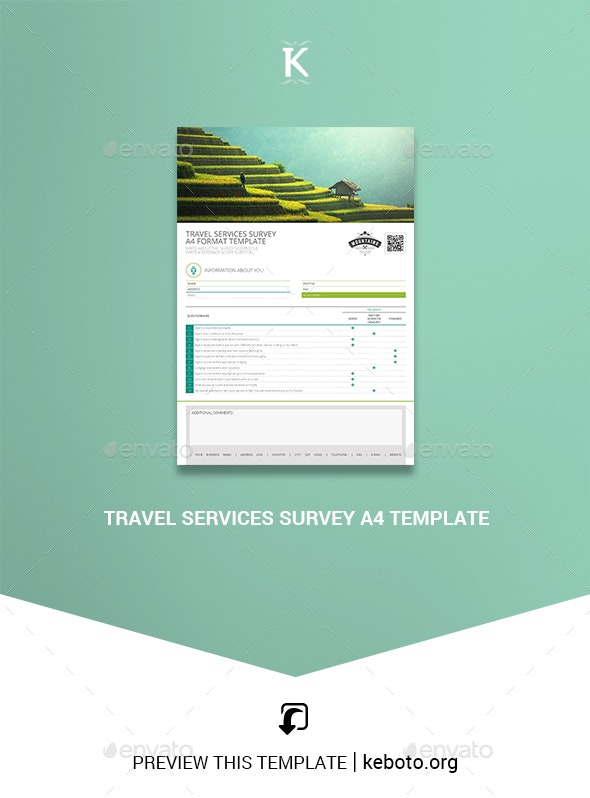 Travel Services Survey A4 Template - Miscellaneous Print Templates