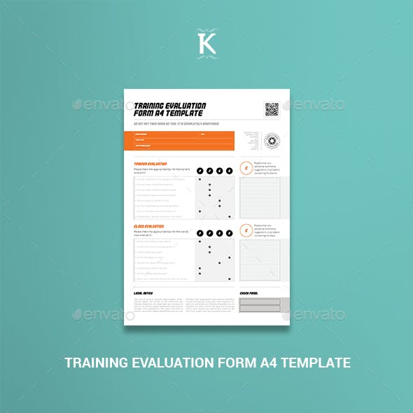Training Evaluation Form A4 Template