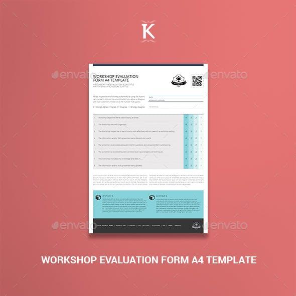 Workshop Evaluation Form A4 Template