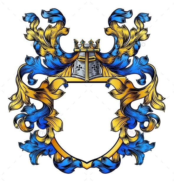 Coat of Arms Knight Crest Heraldic Family Shield - Miscellaneous Vectors