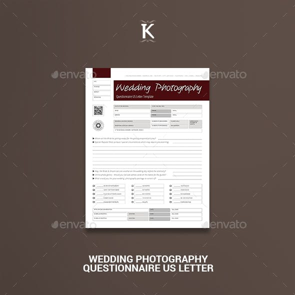 Wedding Photography Questionnaire US Letter