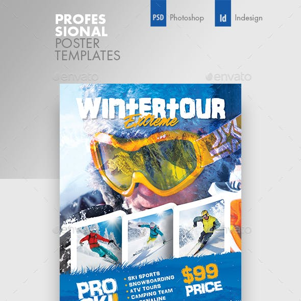 Winter Adventure Poster Templates