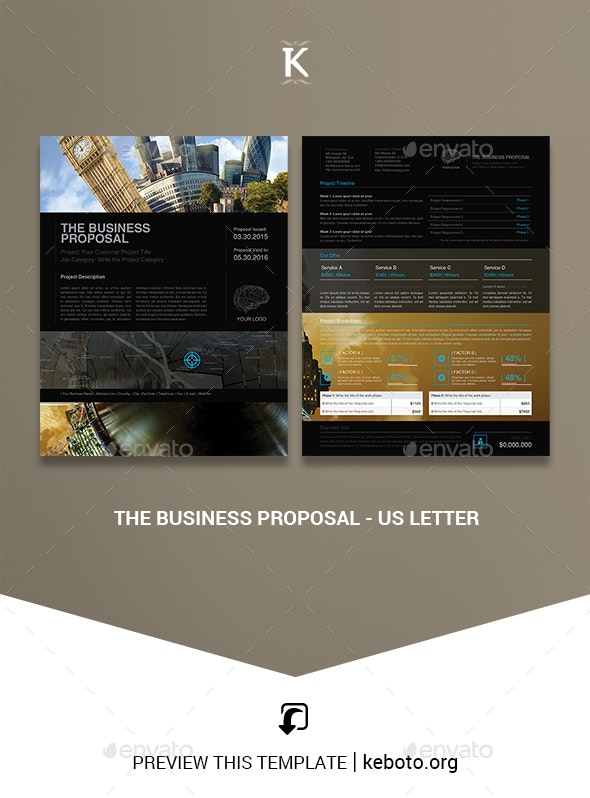 The Business Proposal - US Letter - Proposals & Invoices Stationery