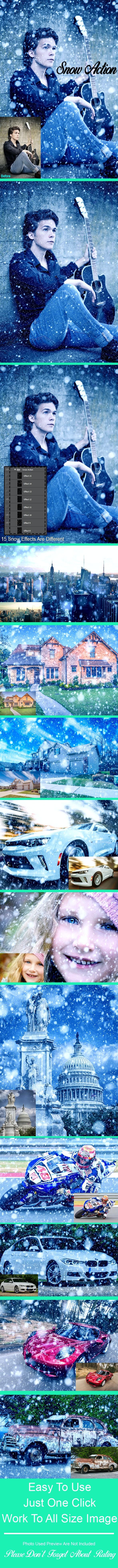 Amazing 15 Snow Photoshop Action Vol 1 - Actions Photoshop