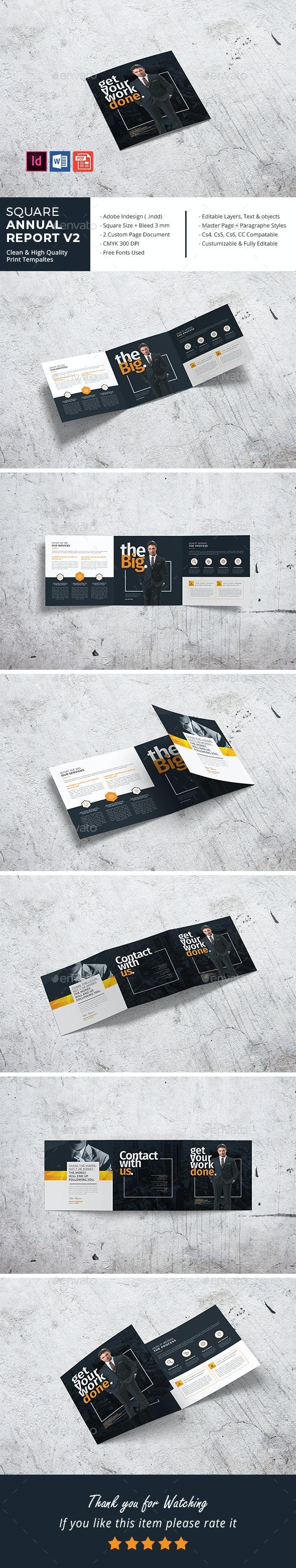 Square Clean Annual Tri-Fold - Corporate Brochures