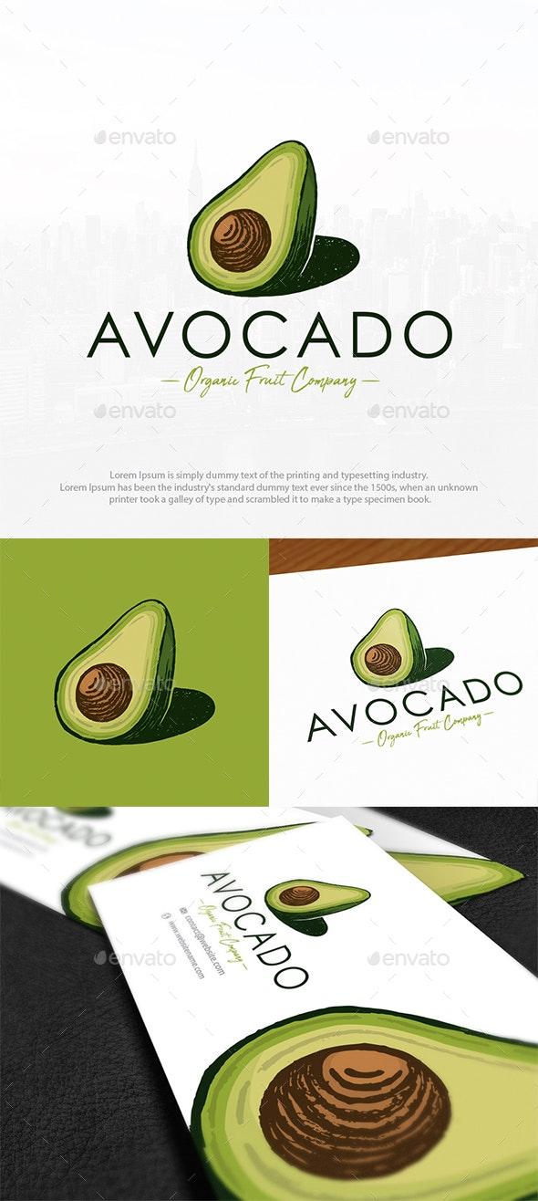 Organic Avocado Logo Template - Food Logo Templates