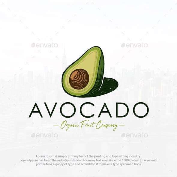 Organic Avocado Logo Template
