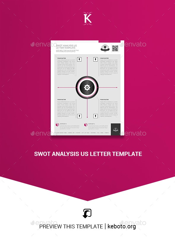 Swot Analysis US Letter Template - Miscellaneous Print Templates