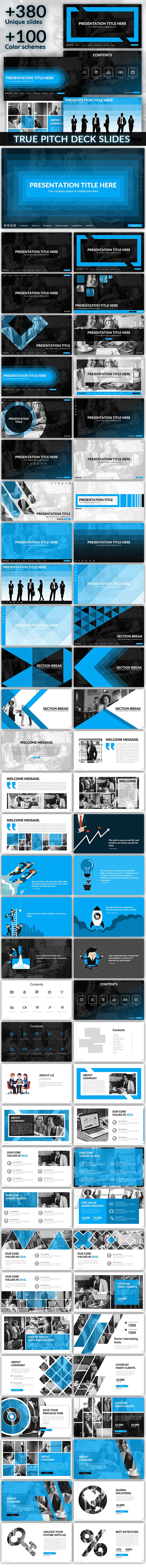 Interface - Pitch Deck Presentation Template - Pitch Deck PowerPoint Templates