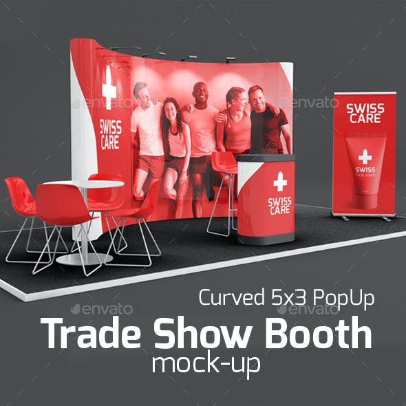 01 Trade Show Booth Mock-up 5x3