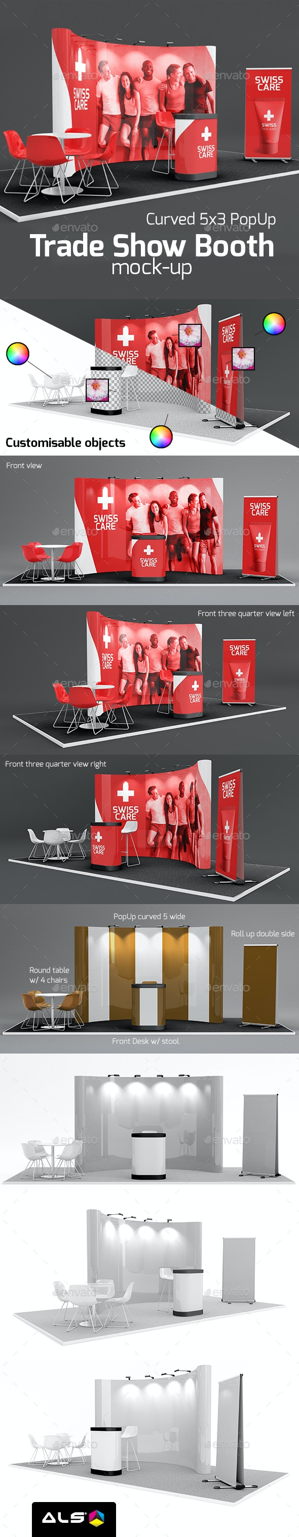 01 Trade Show Booth Mock-up 5x3 - Miscellaneous Print