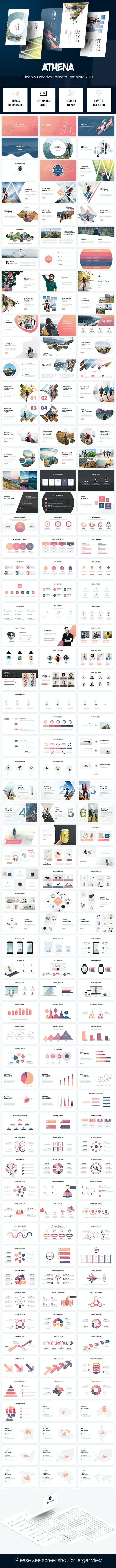 Athena - Creative Keynote Template 2019 - Creative Keynote Templates