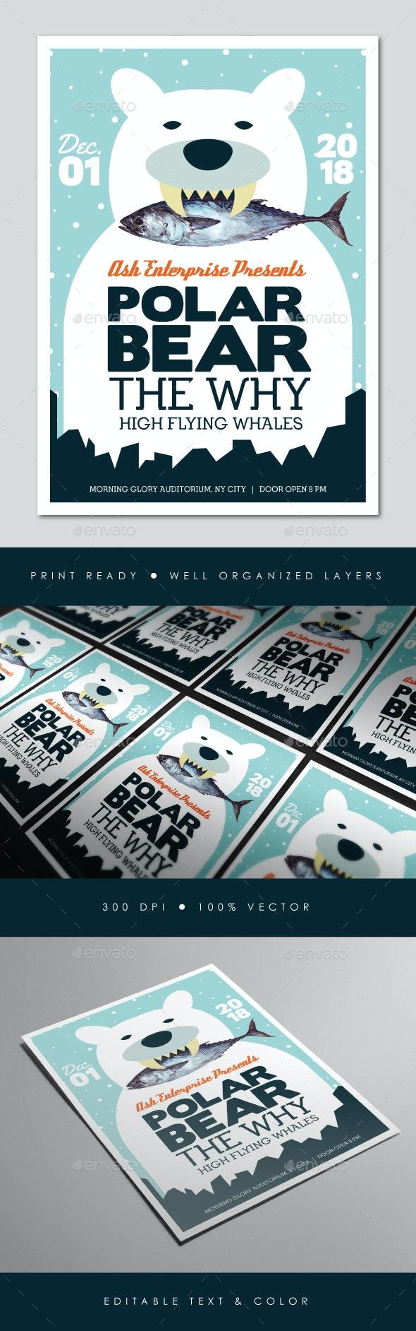 Bear Indie Gig Flyer - Concerts Events