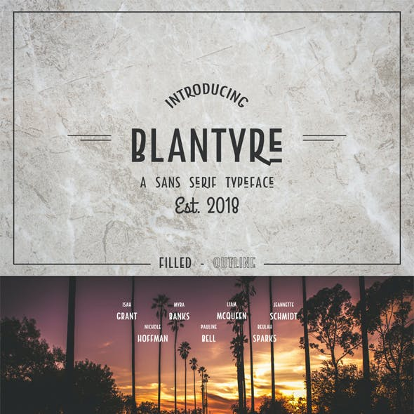 Blantyre - A Modern San Serif