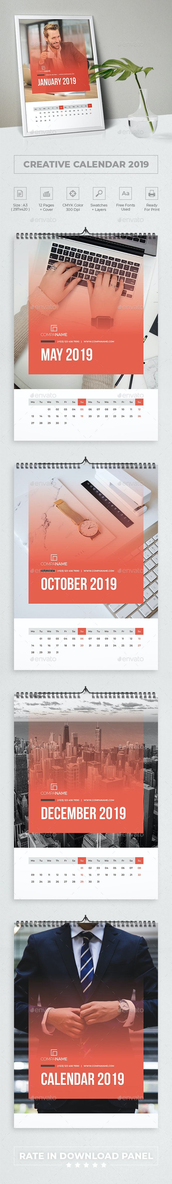 Creative Calendar 2019 - Calendars Stationery
