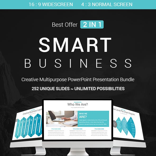 Smart Business - 2 In 1 PowerPoint Templates Bundle