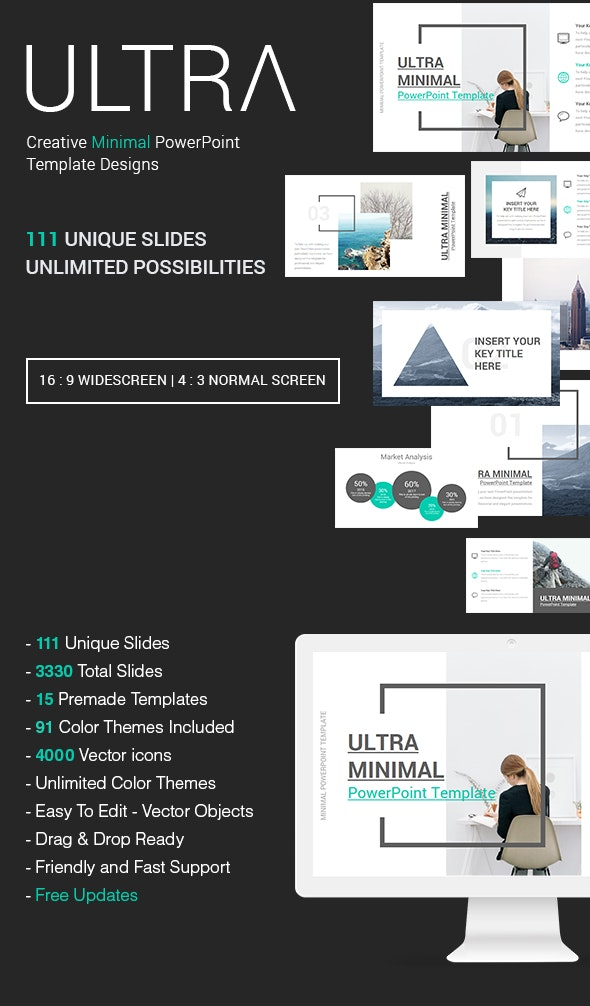 Ultra Creative Minimal Powerpoint Template By Slidaria