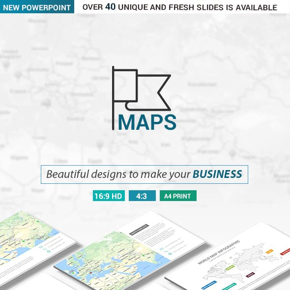 Maps PowerPoint Presentation Template