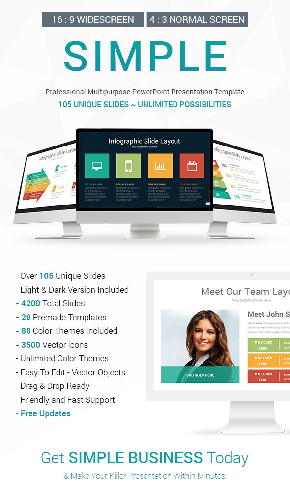 Simple PowerPoint Presentation Template - Business PowerPoint Templates