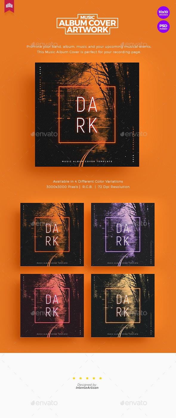 Dark - Music Album Cover Artwork - Social Media Web Elements