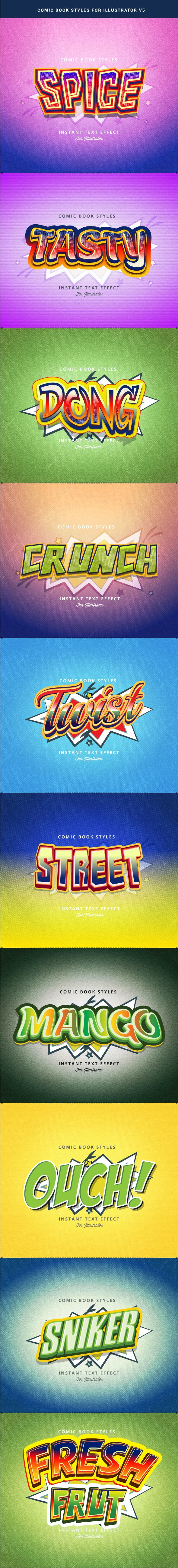 Comic Text Effect V2 - Styles Illustrator