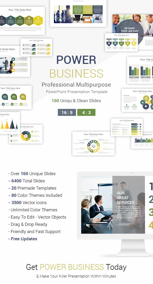 Power Business PowerPoint Presentation Template - Business PowerPoint Templates