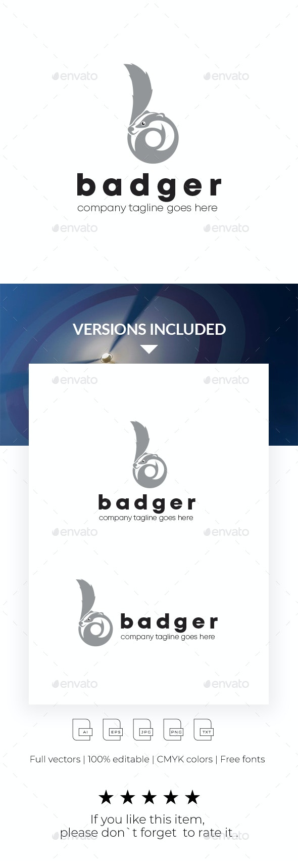 Badger Logo Template - Letters Logo Templates