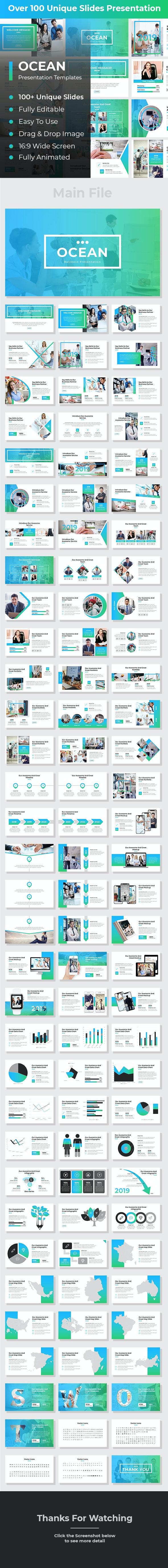 Ocean Business Google Slides - Google Slides Presentation Templates
