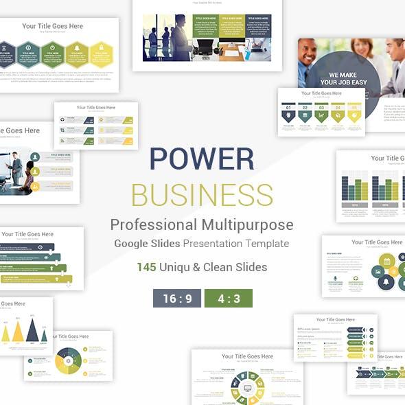 Power Business Google Slides Presentation Template