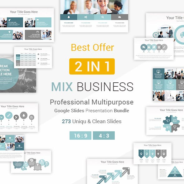 Mix Business - 2 In 1 Google Slides Presentation Template Bundle