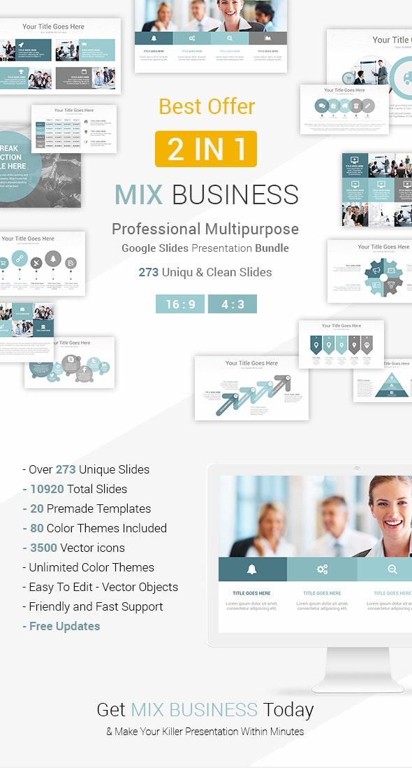 Mix Business - 2 In 1 Google Slides Presentation Template Bundle - Google Slides Presentation Templates