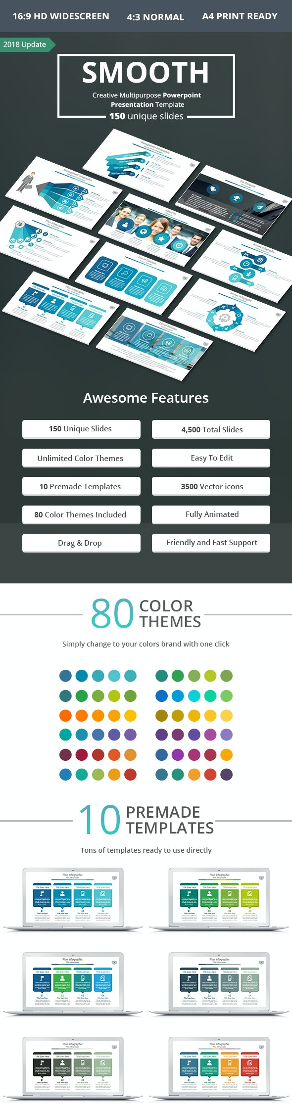 Smooth PowerPoint Presentation Template - Business PowerPoint Templates