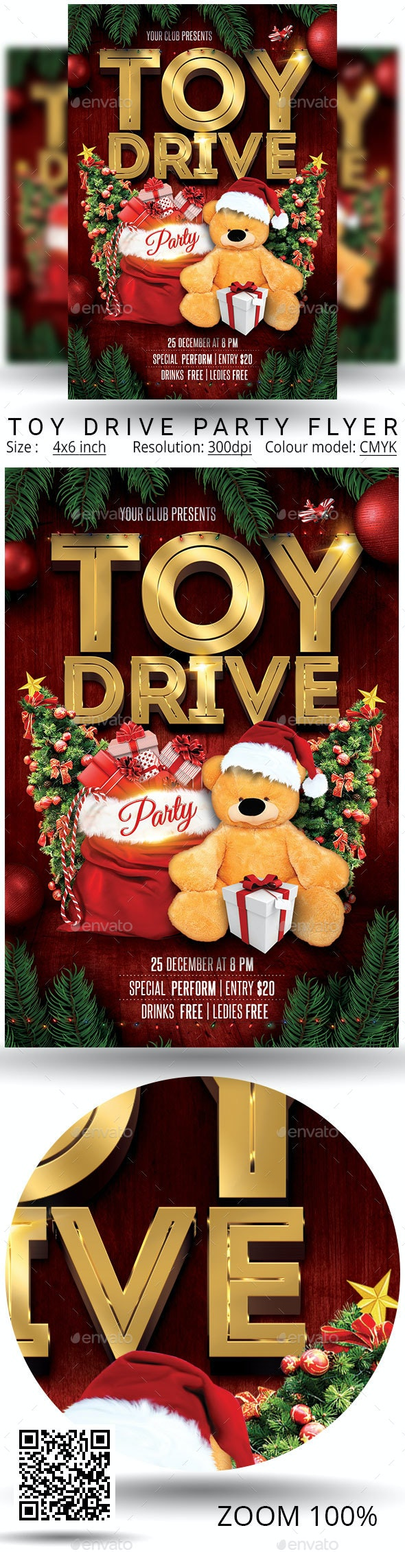 Toy Drive - Events Flyers